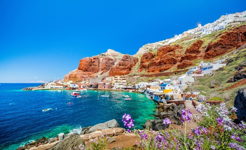 Rent An Atv And Find The Most Beautiful Beaches In Santorini With Moto Panos Santorini Rental From Moto Panos